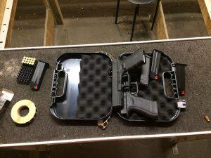 Modyfikacja plastikowych elementów w pistolecie GLOCK.