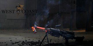 Spalenie tłumika przez pociski